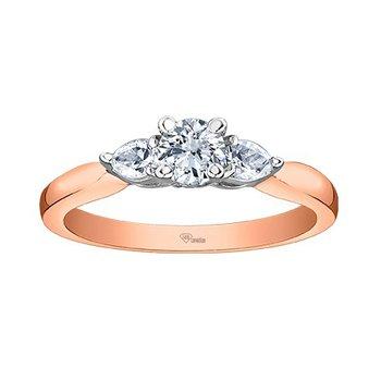 10K Engagement Ring, 0.56 TDW