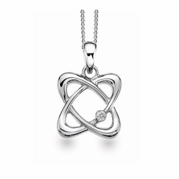 """Particle"" Diamond Pendant"