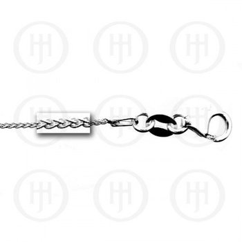 Sterling Silver Round Wheat Link Chain