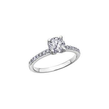 18k Canadian Diamond Eternal Flames  Engagement Ring