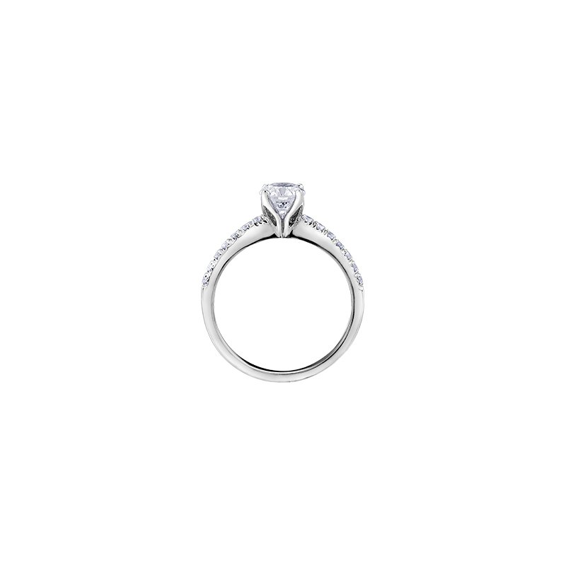 Maple Leaf Diamonds 18k Canadian Diamond Eternal Flames  Engagement Ring