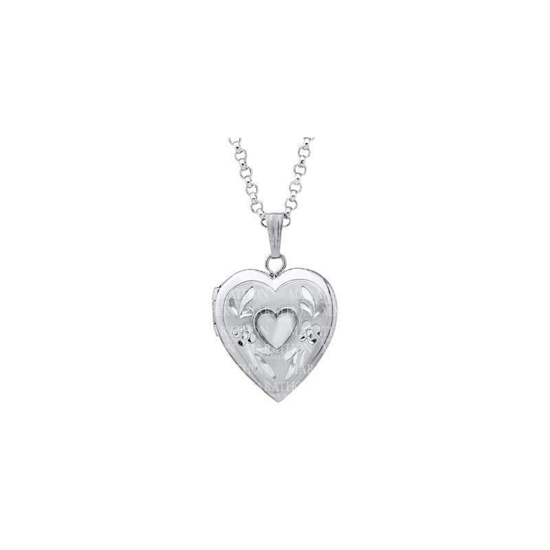 "Marathon Heart Shaped Locket- 18"""