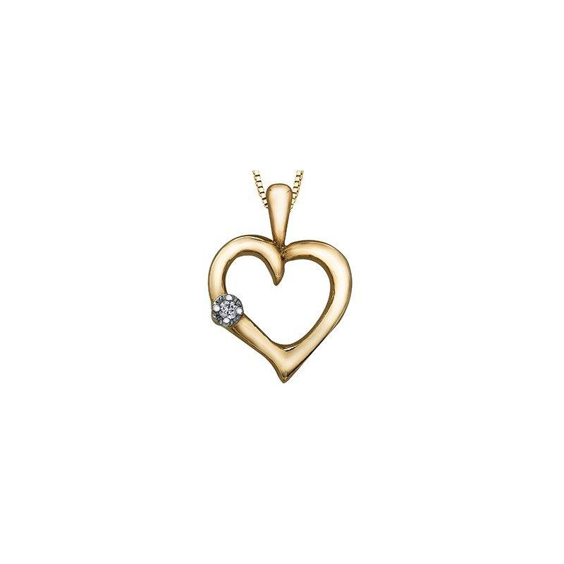 Forever Jewellery 10K Diamond Heart Pendant