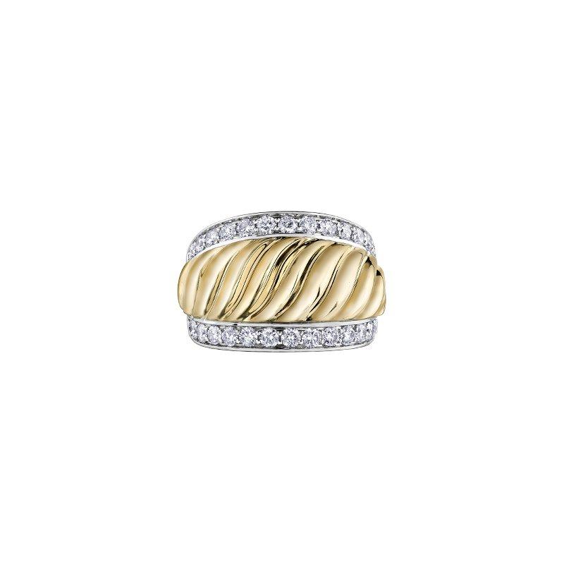 Diamond Envy 10 karat 2 tone gold diamond fasion ring 1.00tcw