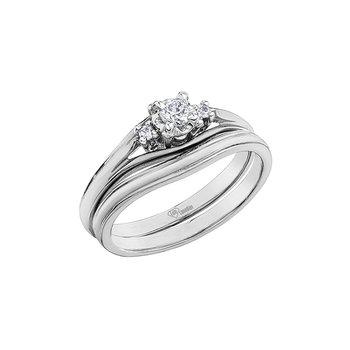 10K Engagement Ring, 0.18 TDW