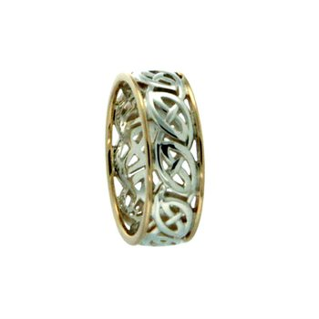 """Window to the Soul """"Ness"""" Sterling Silver & 10K Gold Ring, sz 10.0"""