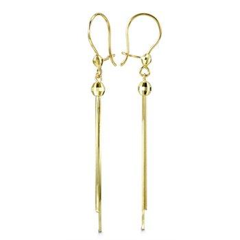 Bella 10k Yellow Gold Dangle Earrings