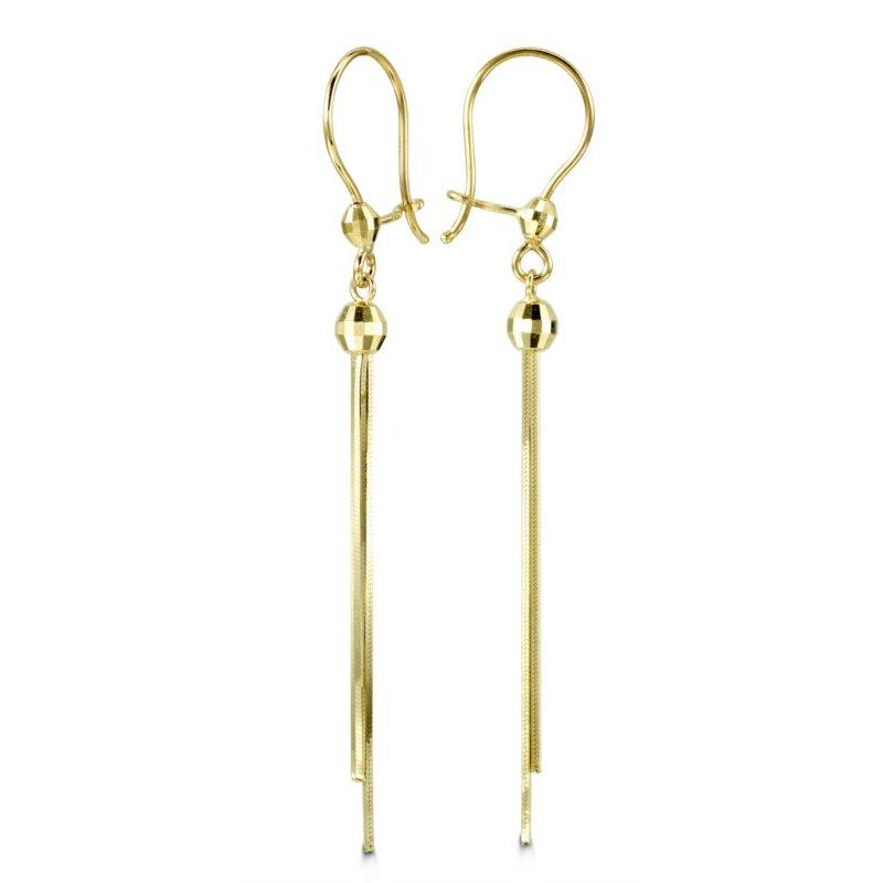 Bella Bella 10k Yellow Gold Dangle Earrings