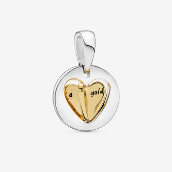 Mom's Golden Heart Dangle Charm - FINAL SALE