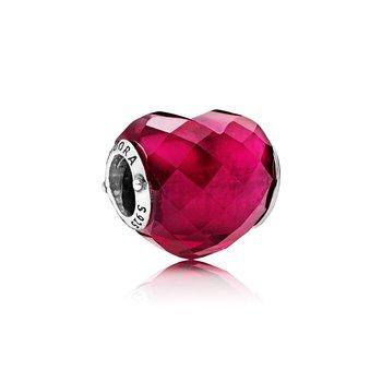 Fuschia Pink Heart Charm