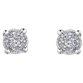 10K Cluster Diamond Studs