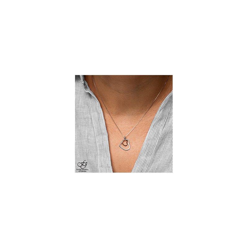 Forever Jewellery 10K 2 Tone Double Heart Pendant