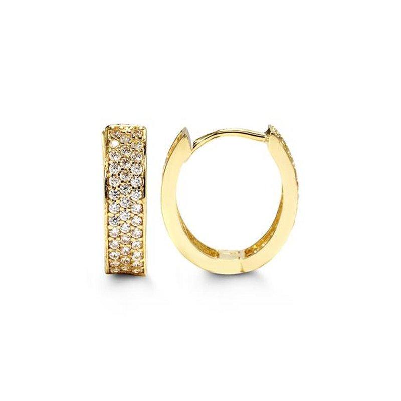 Bella 10k Yellow Gold Huggie Earrings