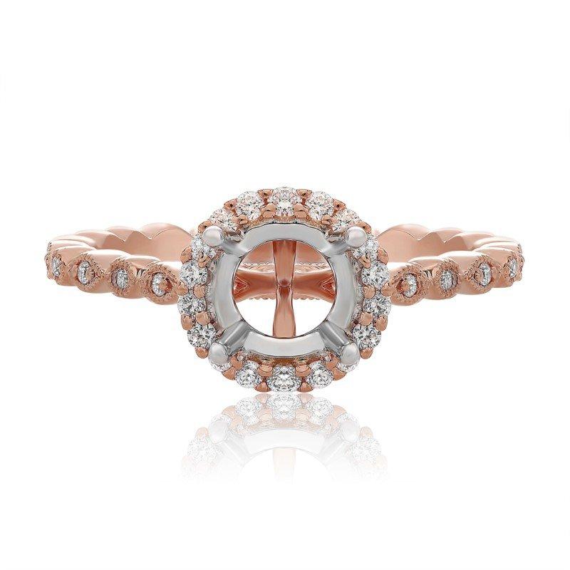 Roman & Jules 14K Halo Engagement Ring Mount