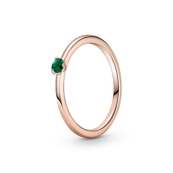 Green Solitiare Ring, size 7.0