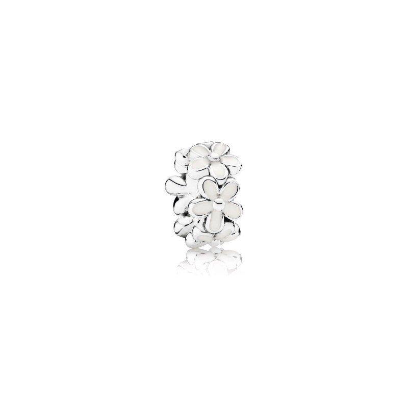 Pandora White Daisy Flower Spacer Charm