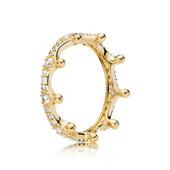 Sparkling Crown Ring, sz 5.0