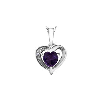 10k Amethyst Heart Pendant