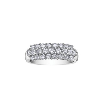 18K Anniversary Ring, 1.00 TDW