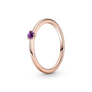 Purple Solitaire Ring, size 7.0