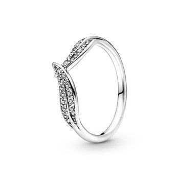 Sparkling Leaves Ring, size 4.5