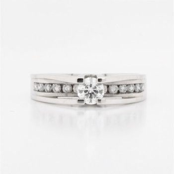 14K Diamond Engagement Ring, 0.50 TCW