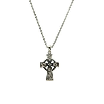 Medium, Sterling Silver Celtic Cross Pendant