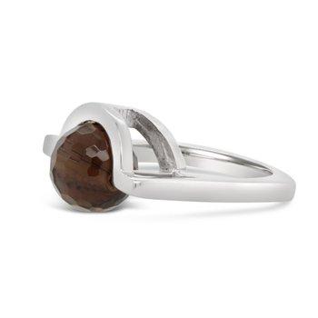 Smokey Quartz Spinner Ring