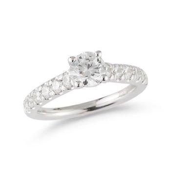 14K Multi Stone Engagement Ring, 1.49 TDW