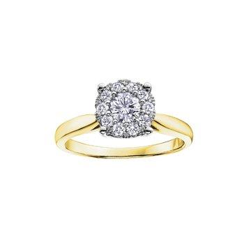 10K Diamond Ring, 0.08 TDW
