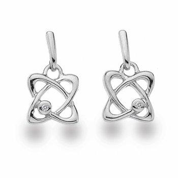 """Particle"" Diamond Earrings"