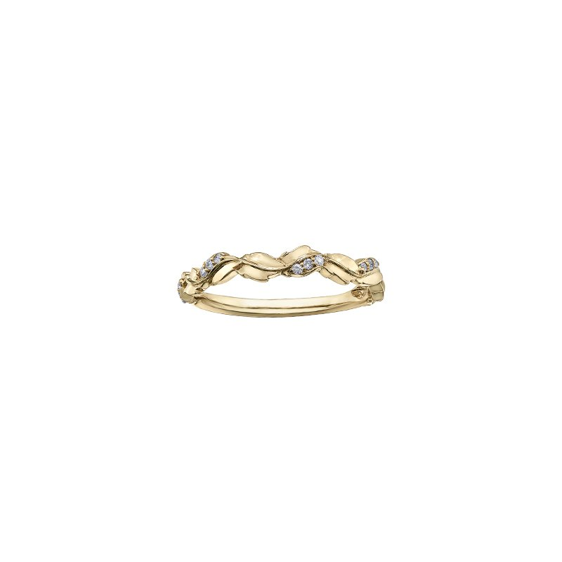 Chi Chi Designs 10K Stackable Diamond Band, 0.07 TDW