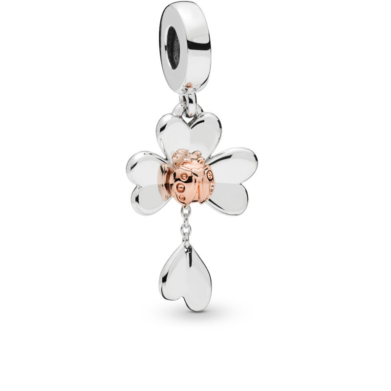 Pandora Clover & Ladybug Dangle Charm
