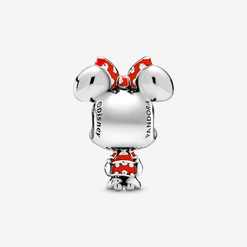 Disney, Minnie Mouse Dotted Dress & Bow Charm