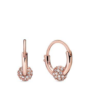 Pavé Bead Hoop Earrings