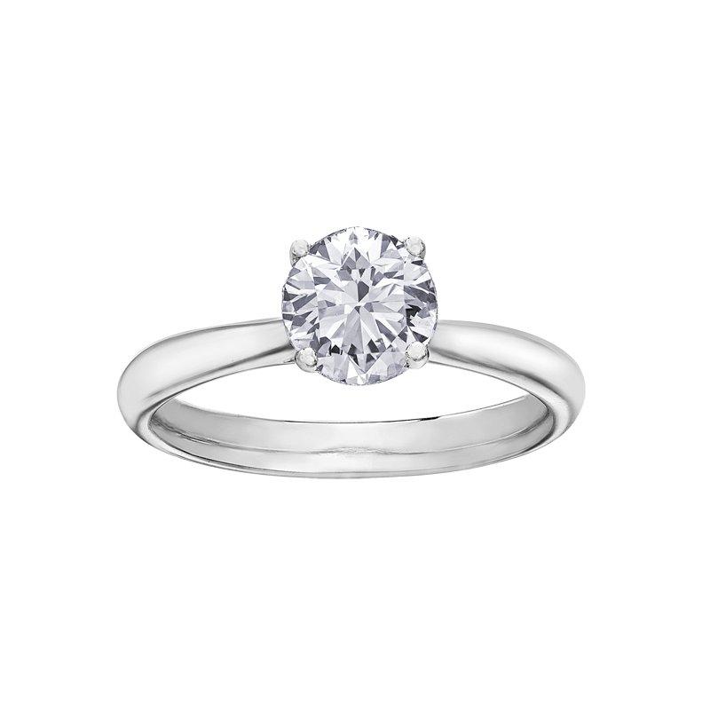 Maple Leaf Diamonds 18k White Gold Solitare 0.73dtw