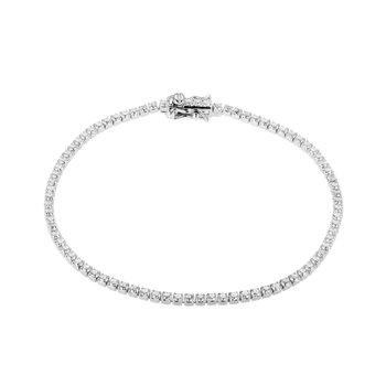 Silver CZ Tennis Bracelet