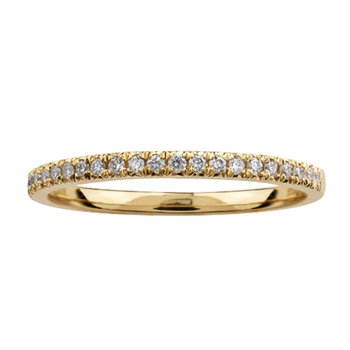 10k Yellow Gold Diamond Band 0.10cttw