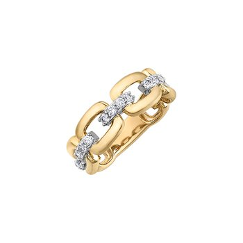 10k yellow gold .50ct Chain links ring