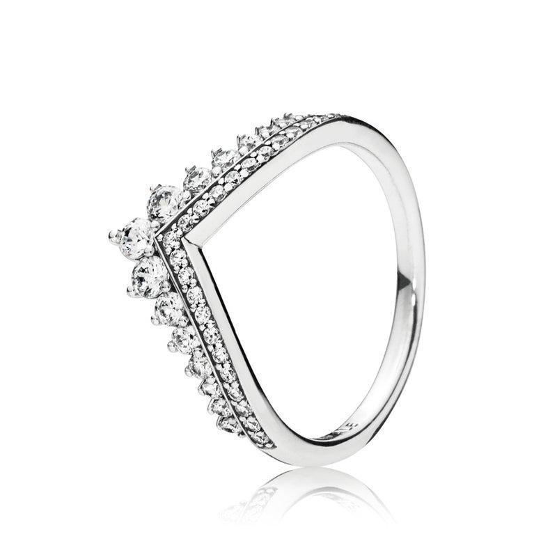 Pandora Princess Wishbone Ring, szie 7.5