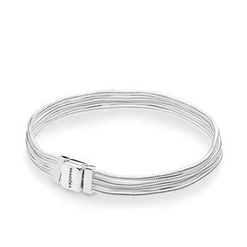 "Reflexions Sterling Silver Multi Strand Bracelet, 6.3"""