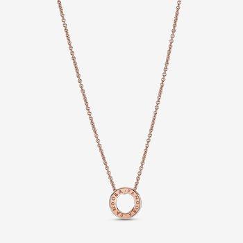 """Pandora Logo Pavé Circle Collier Necklace, 17.7"""""""