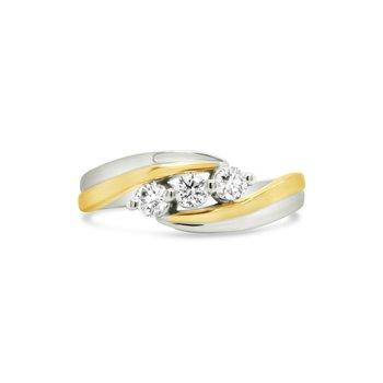 3 Stone Diamond Ring 0.29ctw