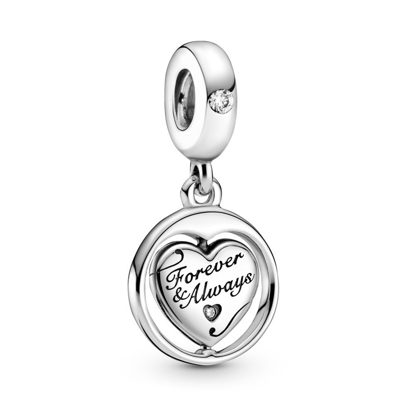 Pandora Spinning Forever & Always Soulmate Dangle Charm