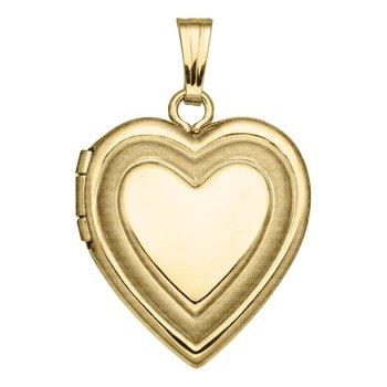 """Yellow Heart Shaped Locket- 18"""""""