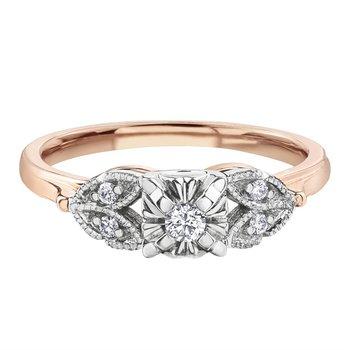 10K Engagement Ring, 0.19 TDW