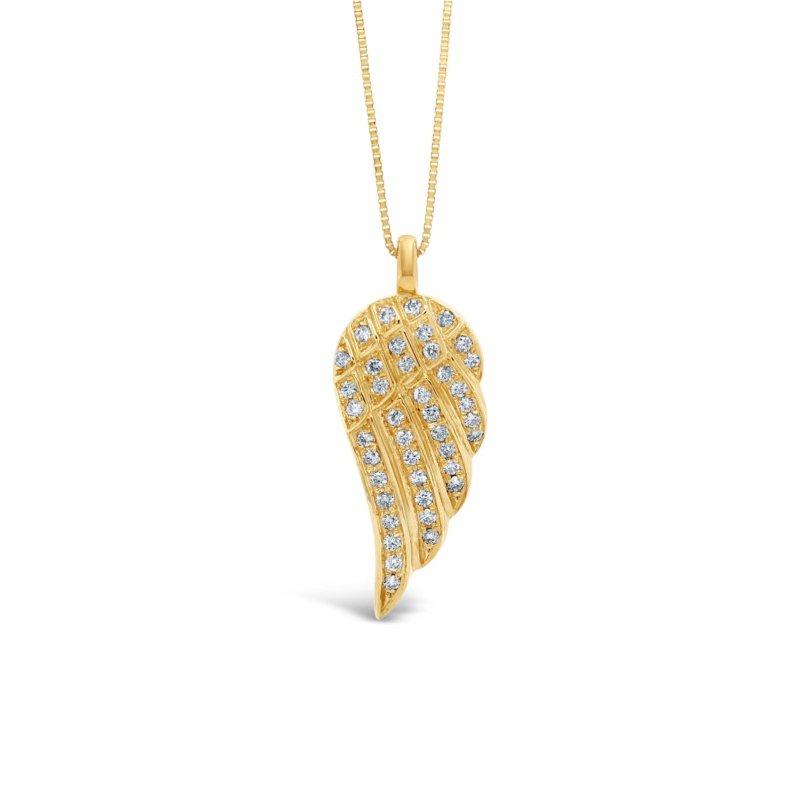 GNM Jewellery Collection 14k Angel Wing Diamond Pendant