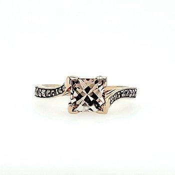 1ct Morganite & Diamond Ring