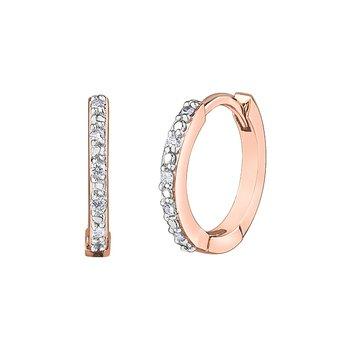10k Huggie Diamond Earrings 0.05ct