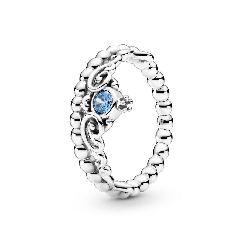 Pandora Disney Cinderella Blue Tiara Ring, size 6.0
